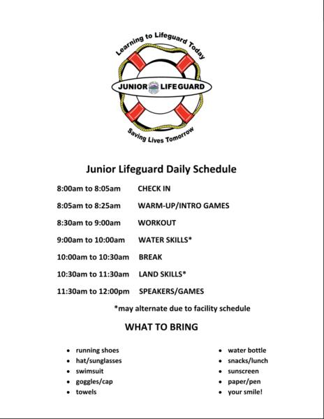 Schedule June class