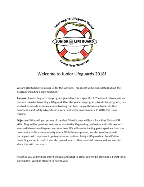 Welcome Letter June